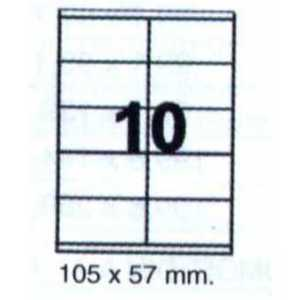 10 etiquetas por hoja