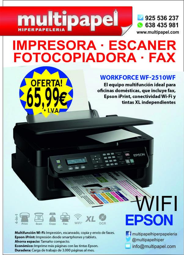 Impresora Wifi Fotocopiadora Esc 225 Ner Y Fax Epson Al